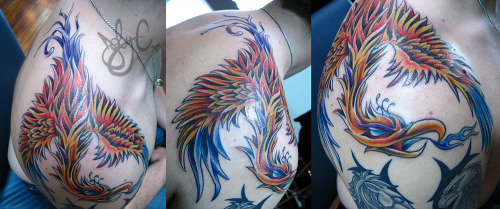 another awesome freehand piece I did on Kevin a couple of years ago.