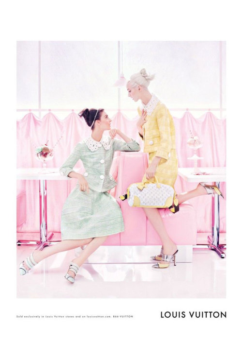 calivintage:  daria strokous & kati nescher for louis vuitton spring 2012 campaign by steven meisel.  Gah I love Louis Vuitton this season…