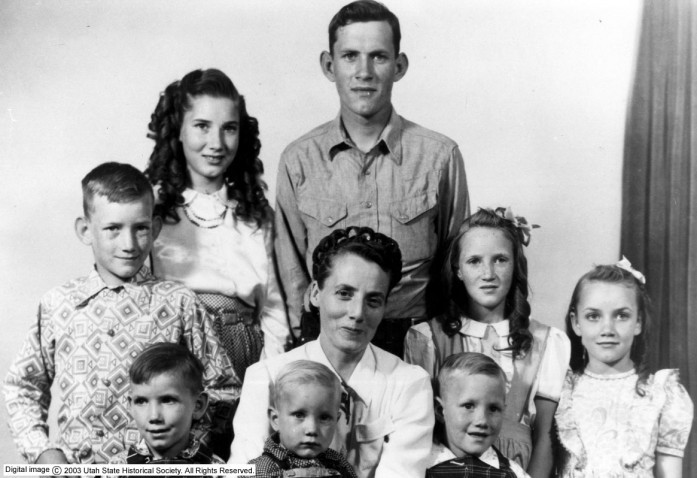 Vera Black with her children http://mormonhair.tumblr.com/tagged/vera-black