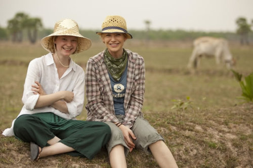 Mia Wasikowska and Anna Torv in Cambodia for Oxfam.