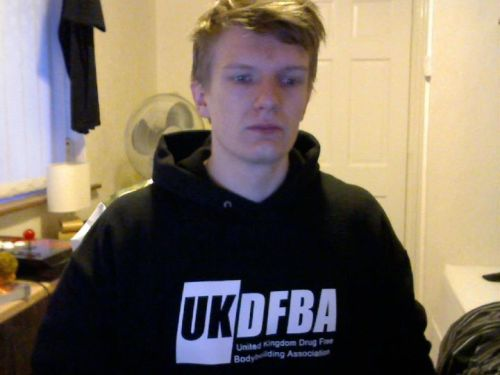 New UK Drug Free Bodybuilding Association hoody arrived!  I look like I'm about to cry haha