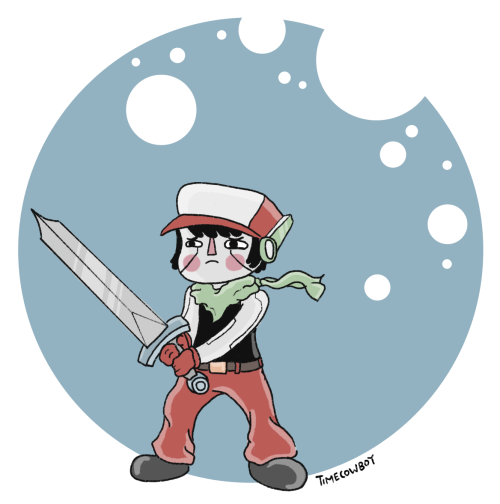 I played Cave Story again so here is some fan art. Its friday so its fan art friday! I'm Still in New York just so you all know. I'm not going home. Oh by the way you can get this game in the latest Humble Bundle. Its a great bundle this time 'round and its for charity so do it, do it, do it. Then play this wonderful game.