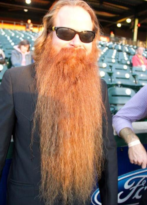 This is Bryan Nelson. He is the president of the Austin Facial Hair Club. He is one of the many fantastic beards that are attending the 2012 West Coast Beard and Mustache Championship in Portland, Or on January 21st.   I suggest y'all come!