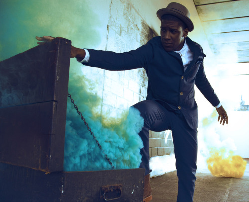 ayishatandlouize:  Labrinth shoot for ID Online: Styled by Ayishat & Louize Photography: Dexter Navy Suit by House of Billiam Hat- Baileys Shoes- Grenson See the full shoot here: http://i-donline.com/2011/12/i-n-session-labrinth/