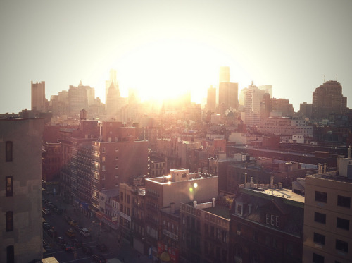 Sunset from New Museum on Flickr.