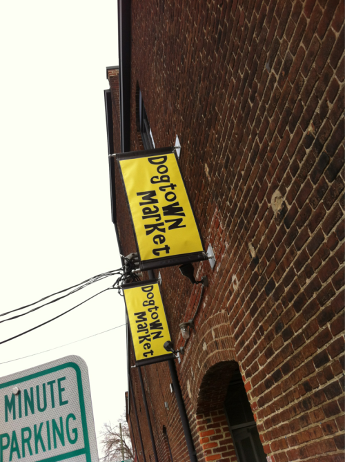 Camden's Dogtown Market new signs up at Corrugated Box Building #rvadine