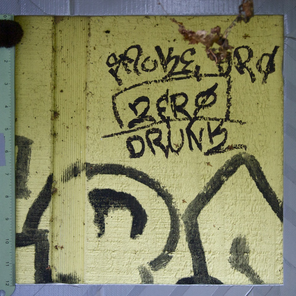 "Graffiti on yellow shed, ""SMOKE ?RO - ZERO - DRUNK"", N James St."