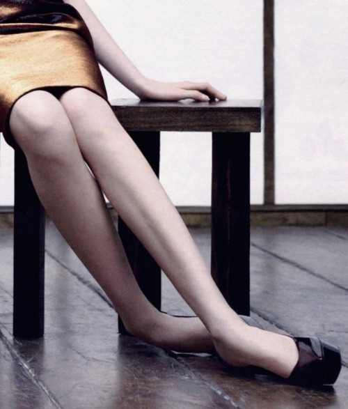 detail of Jil Sander fall winter 2007/08 ad campaign by Willy Vanderperre. Jil Sander designed those legs. And the floor.