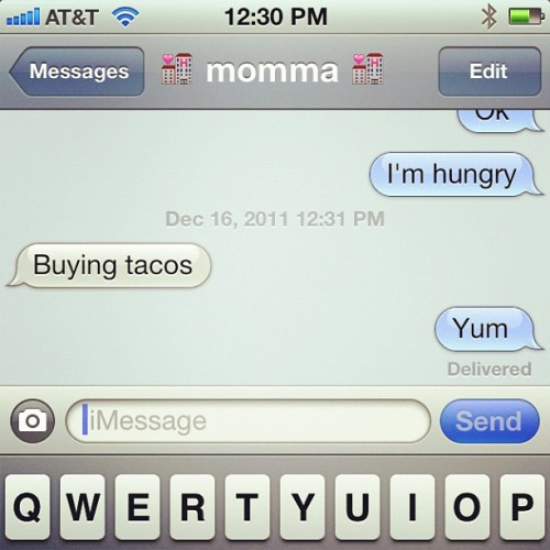 what a cutie pie #momma #hungry #tacos  (Taken with instagram)