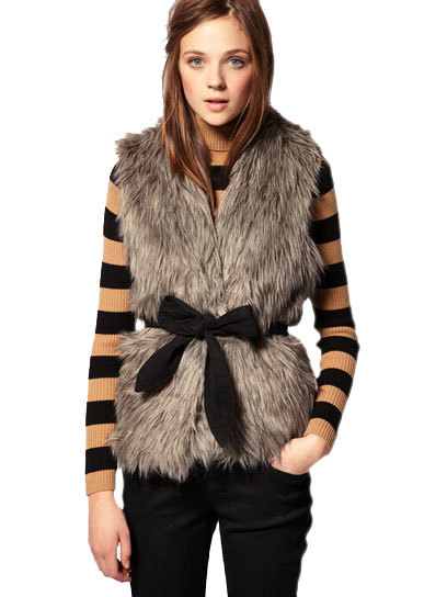 teenvogue:  Wear a bow-trimmed fur vest over a striped turtleneck for a perfect boy-meets-girl look. See more of fave fuzzy picks here » us.asos.com