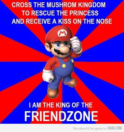 9gag:  (via 9GAG - Mario, you are the Man)