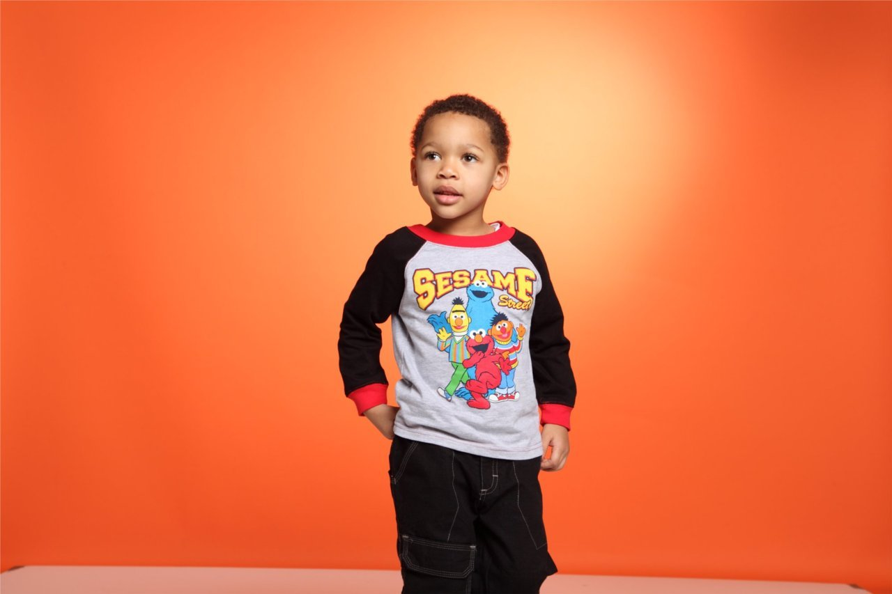 Always cute kids on set at zulily's photo studios!