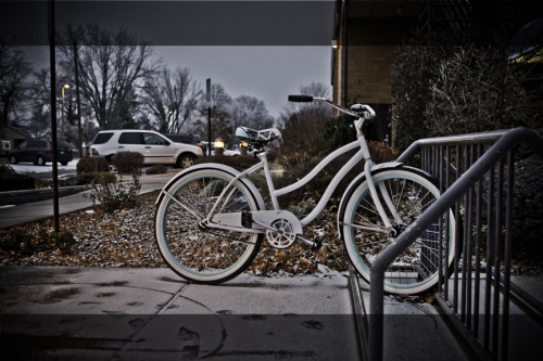 """Bike in the Frozen"", Walla Walla weather catches some unaware. Photo by Chris Drake"