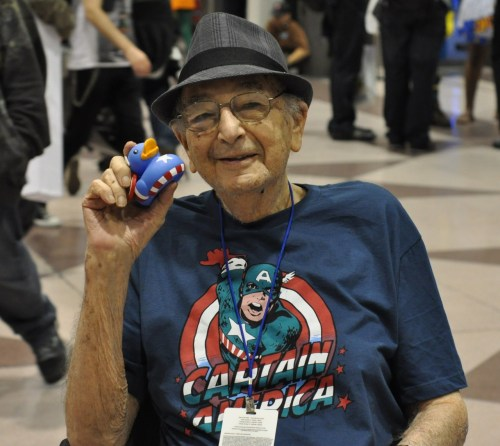 herochan:  Joe Simon, co-creator of Captain America Dead at 98. The man who gave life to the Marvel Universe natural leader, to The Avenger's frontman, the man who created the star spangled super-hero, left us this past Wednesday after a brief battle with illness, his greatest contribution will live on forever on the pages of Marvel Comics, his talent will be missed. (via:comicsforever)
