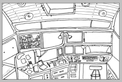 Spaceship interior. Complete with space buttons.