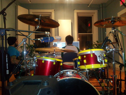 Last night we tracked all the drums for our new EP at S&S Studios! Five brand new songs coming at you early next year. Next step is to start guitar tracking. We couldn't be more exited to show what we have been so busy writing in the past couple of months. Its been quite the growing process for us as a band and the progress we have made, we are ever greatful for. More updates are on the way so do stay tuned!
