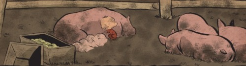 Baby Boyd. Sleepin' with pigs.