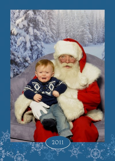"I especially love how both Callum and Santa are conveying ""get me out of here!"" with their facial expressions, just in very different ways."