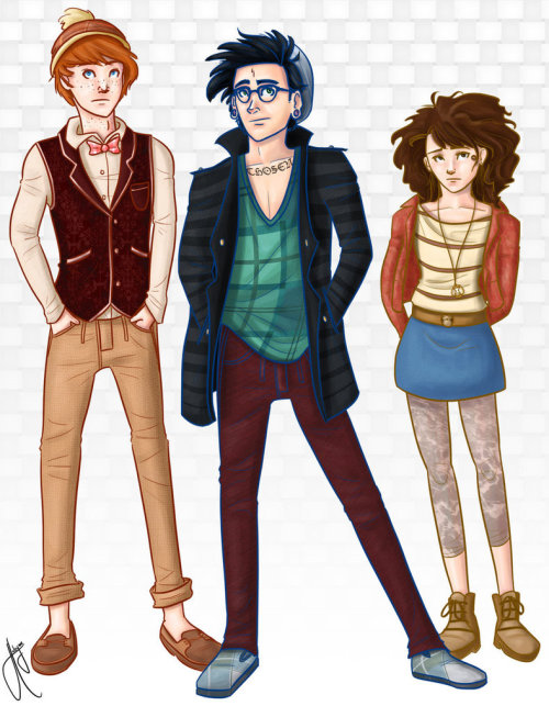 hpotterfanart:  Hipster Potter and Friends by blindbandit5