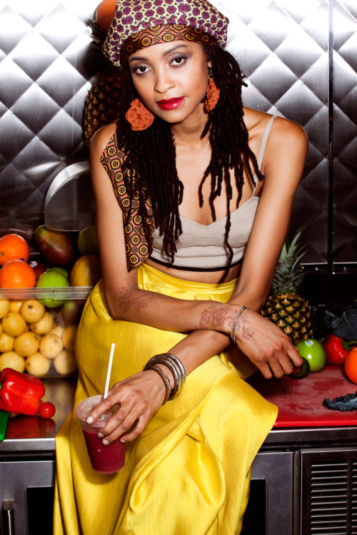 tmagazine:  The Moment caught up with the girls of the West Village's Caribbean hot spot, Miss Lily's, to find out how to get their look.