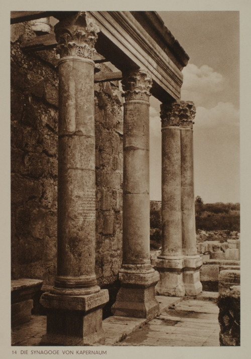 The Synagogue of Capernaum, 1920s