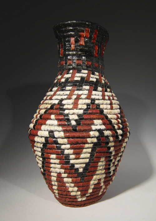 "Kathy Pallie: Fire – Passion. Earthenware, glazes, 20""H x 13""L x 11""D, 2011"