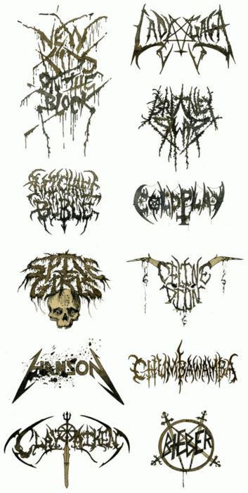 If pop stars had death metal logos…