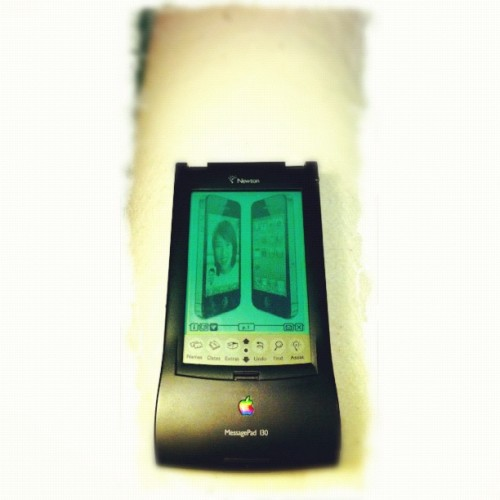 iPhone 4. In Newton MessagePad screen. (Taken with instagram)