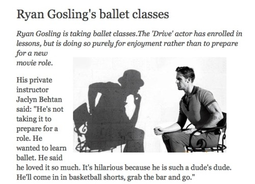I read this a while ago. Too cool, Gosling.