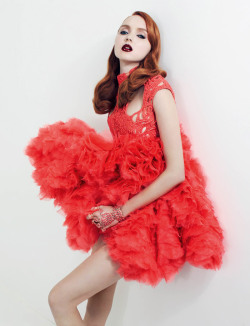 redheadlove:  Lily Cole for Vogue Russia January 2012