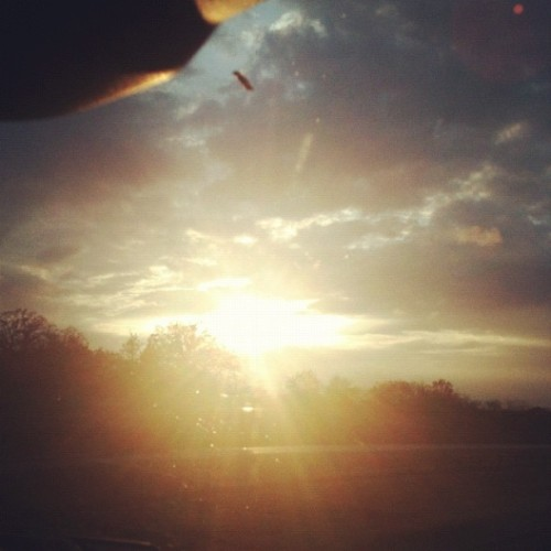 The sun finally breaks through… (Taken with instagram)