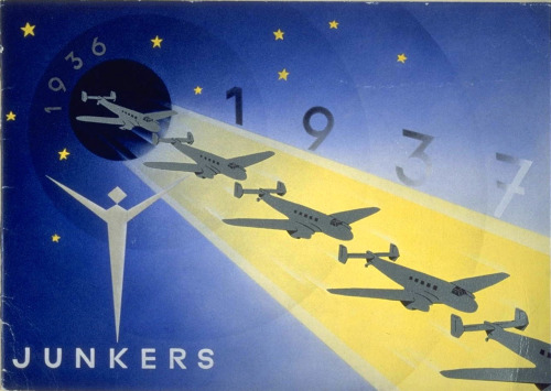 Junkers - Christmas Card, December 1936. Printer: Osterwald, H, Hannover. Source: Oxford University Library - Toyota City Imaging Project
