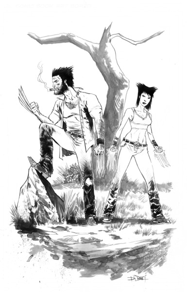 Commission: Wolverine and WildChild.