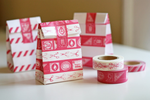 Empaques decorados con Washi Tape