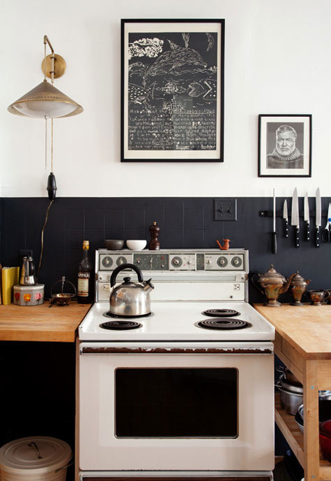 myidealhome:  Hemingway in the kitchen
