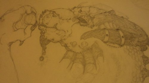 About sketching/drawing in pencil. I used Derwent brand for this dragon. If you don't know much about pencils and types I'll give you a briefing in case you have a little up and coming artist at home and would like to encourage them or expand their experience.Those letters/numbers you see on these pencils refers to the hardness of the graphite in them. Harder Pencils (with an H) will leave lighter markings and are great for sketching pictures out. The higher the number the harder the pencil graphite. Then you get HB which is a bit softer ( leaves darker lines) than your normal 2H pencil. After that there is B, these pencils are brittle/softer. They make darker & wider lines.For most people a good range to start with is 4H to 4B. These pencils do not include erasers, so make sure to buy a good eraser. I usually stick withStaedtler Mars plastic erasers. Tip: Erasers tend to be a bit thick or awkward when needing to erase between really small places, so I cut them with a razor into thin triangles. I tend to get better control on what I erase.