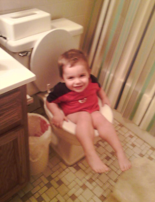 How to incorrectly potty train your toddler nephew…