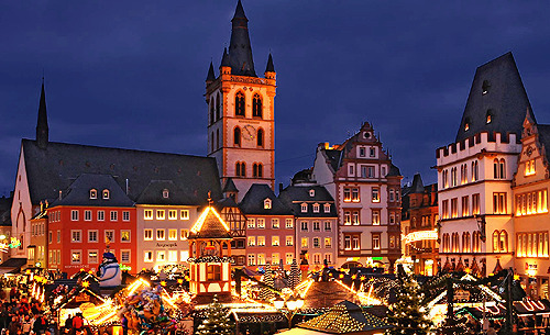 thelivingsculptures:  this is the christmas market in trier (treves). it's the oldest city in germany, founded before 16 bc. i'm currently living & studying there and let me tell you this: it's magical around christmas time.