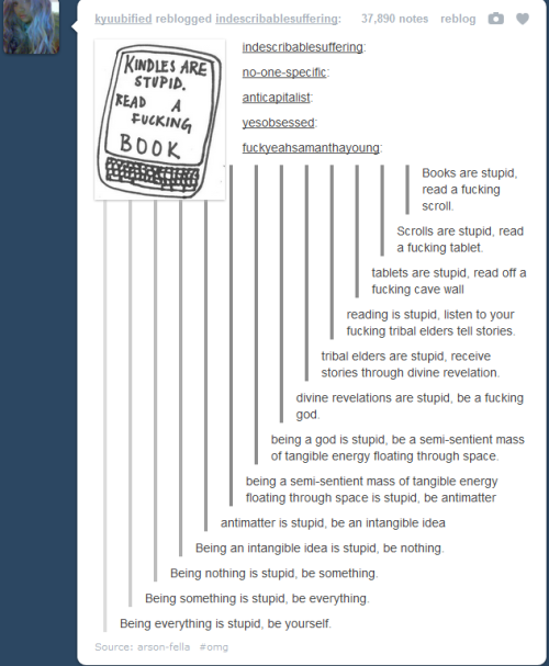 mgann-morzz:  ninja-pillow-timeywimey:  Accidental philosphy  Tumblr is magical.