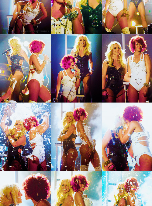 teamspears:  » Best of Britney Spears in 2011: Britney and Rihanna at BMA.