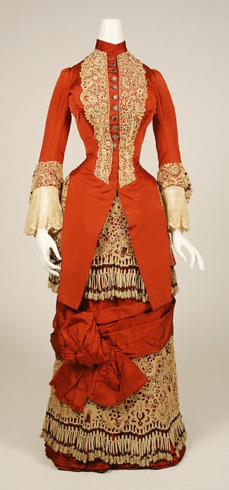 ornamentedbeing:  Dress  c.1880  Met