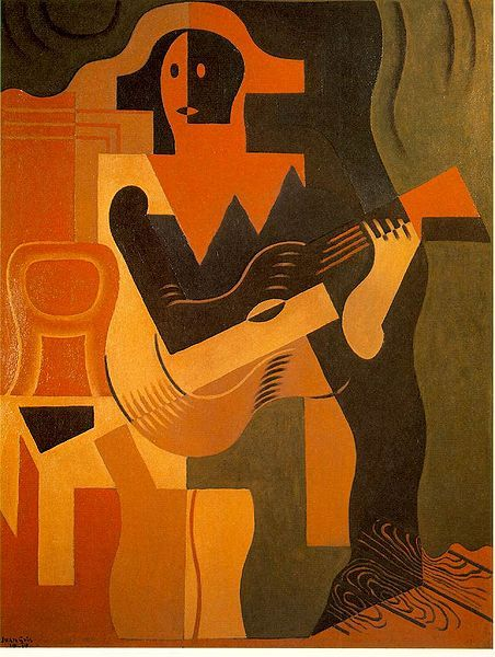 Juan Gris, Harlequin with Guitar, 1919.