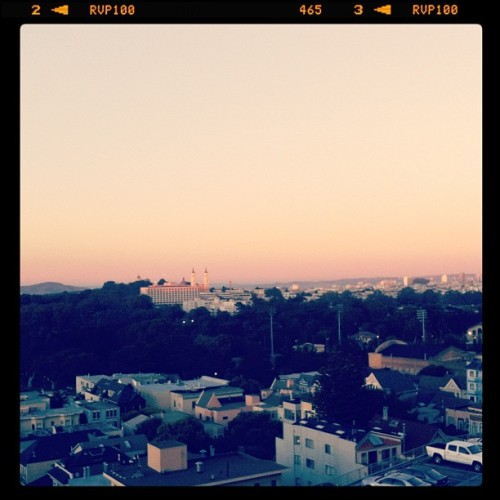 I caught the sky blushing tonight. #sky #sunset #instagram #iphone #ucsf (Taken with Instagram at San Francisco)