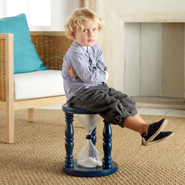 Hour Glass Stool for your bratty kid's time out.