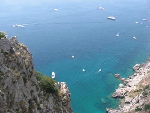 Capri, beauty with a euro sign on it. I looked up trips here and you need to have pockets as deep as you can see down in that crystal clear water. Though it is beautiful and historical it is expensive.