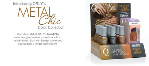 'METAL CHIC' Series - ORLY Nail Polish   (SPREE CLOSES EVERY 14th and 29th of the MONTH) Your ORLY Nail Polish will reach you within 3 weeks AFTER SPREE CLOSES;  Buy one bottle @ only SGD 10.90 10.50!! * Price for some special products may differ BUT are available upon request *  ~ ONE FREE GIFT with EVERY PURCHASE;  ♥ FOC meetup at YEW TEE & CHOA CHU KANG MRT.CLEMENTI MRT & in NUS *For School Days ONLY*(Other locations subjected to convenience)♥ NORMAL postage @ SGD 1.00, subsequent items @ $0.80 each♥ REGISTERED postage @ SGD 3.00, subsequent items @ $0.80 each   ♥ A.M. Mail (Letterbox Delivery) @ SGD 3.00, MAX. weight of 300grams♥ A.M. Mail (Doorstep Delivery) @ SGD 4.20, MAX. weight of 300grams  ~ Hurry & start shopping the FULL RANGE @ http://www.ORLYbeauty.com[:  Please kindly place ALL ORDERS via the ' ORLY spree ' form ;
