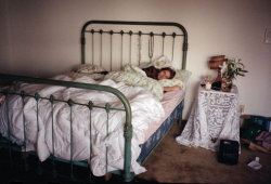 A photo of Kurt Cobain in the bedroom of his North Seattle home, captured by Courtney Love. Courtney claims that this is her single most favorite photo of Kurt.
