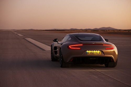 automotivated:  Aston Martin One-77 Launches at Virgin Galactic's Spaceport America (by Classic Driver)