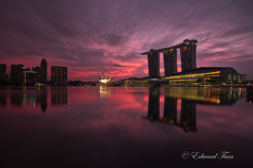 """Marina Bay @ Dawn"" by Edward Tian"