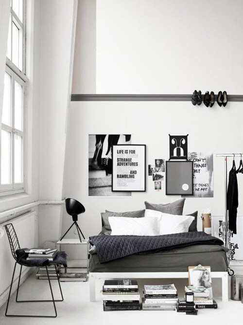 musesofdesign:  (via grey bedrooms | the style files)